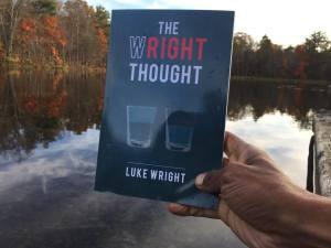The Wright Thought book by water